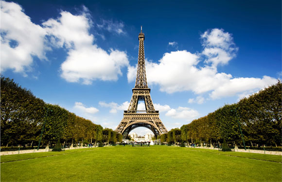 The Eiffel Tower, the most visited hotspot in Paris, France